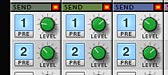 Adjusting the Send levels in the Main Mixer