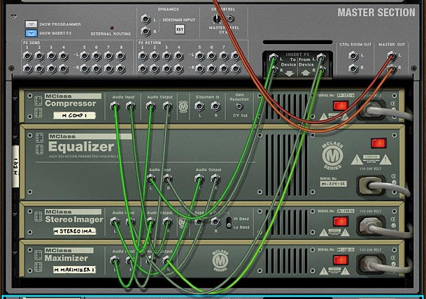 Adding the mastering Combi into the Master Section