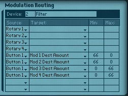 Programming the Modulation Routings in the Combinator