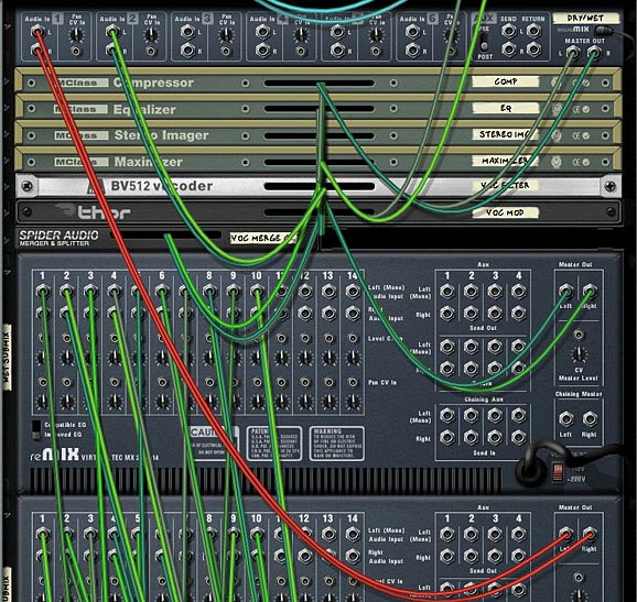 Routings from the back of the two Submixers