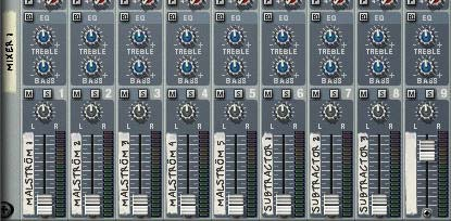 The 14:2 Mixer with all Level Faders turned down