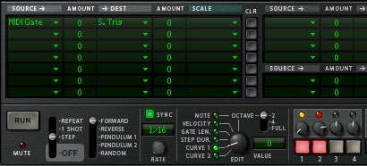 """The Modulation Bus Routing Section for the """"Trigger"""" Thor"""