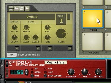 The DDL-1 used as a visualizer for the Volume setting