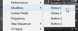 "The two Rotaries and Buttons in the MBRS under the ""Modifiers"" submenu. They can be used as Modulation Sources or Scales."